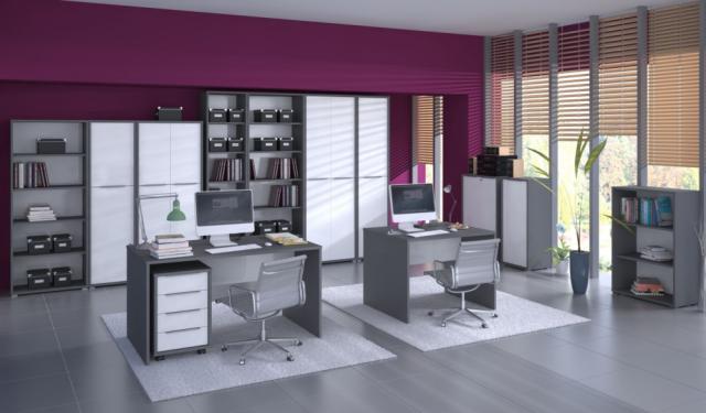 8a39fc497e29 RIOMA kancelárska zostava grafit+biela